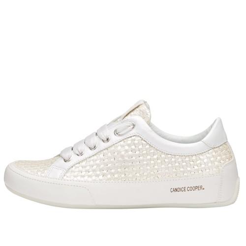 ROCK DELUXE Tressé leather sneaker White-Beige 2015825141N30-30