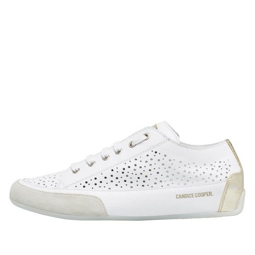 ROCK Perforated leather sneaker White 2015826561N71-30