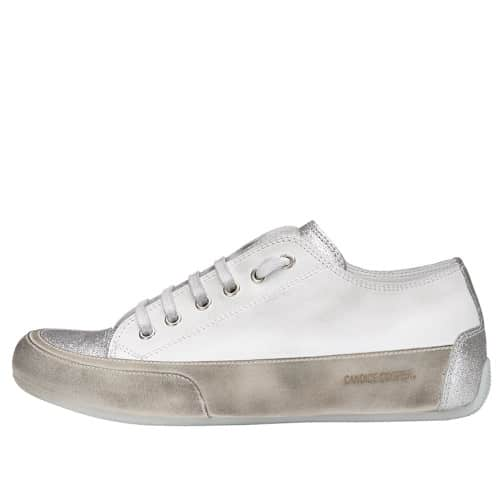 ROCK Leather sneaker with silver inserts Gray 2015826571N72-30