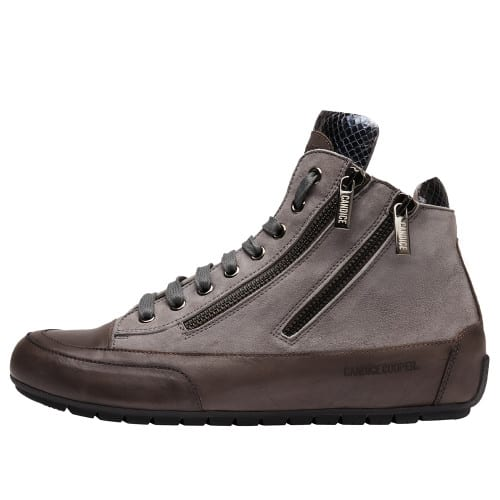 LUCIA ZIP Suede and nappa leather ankle sneakers Charcoal grey 2016061019103-30