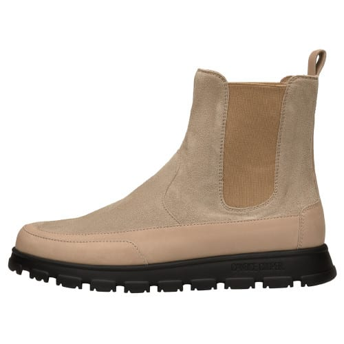 NINJA BEATLES Suede leather ankle boots Cream-coloured 2501940059143-30
