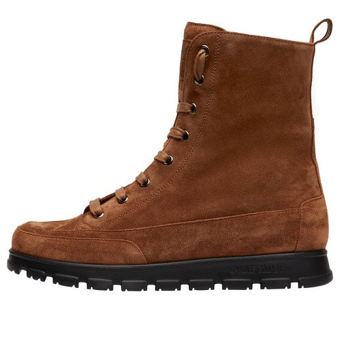 NINJA COMMANDO Suede leather ankle boots Tobacco brown 2501942049131-30