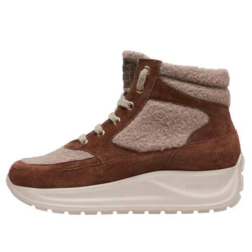 SPARK X Suede leather and wool sneakers Brown 2501949059141-30