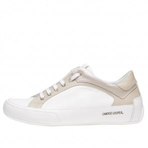 DIVINE Two-tone leather sneakers White 2015814011N30-20