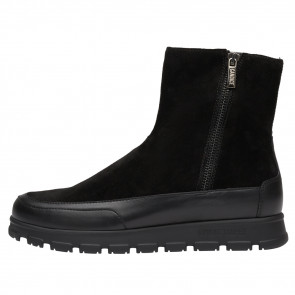 NINJA ZIP Calfskin and suede leather ankle boots Black 2501945049135-20