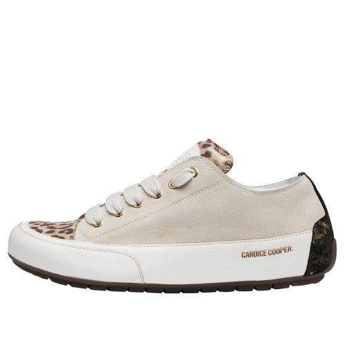 ROCK Suede and calfskin leather sneakers Sand-yellow 2016054149231-30