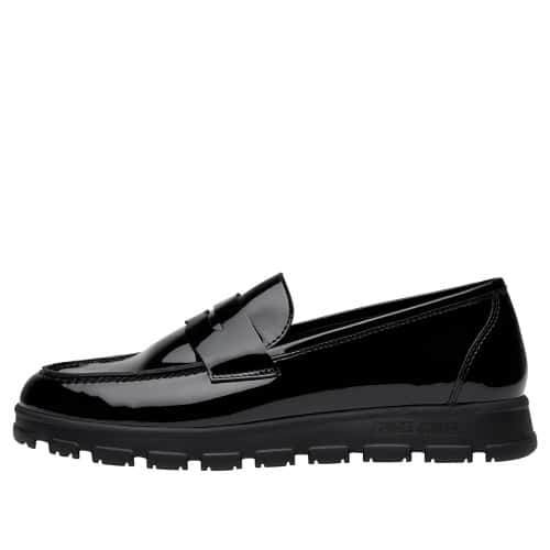 NINJA COLLEGE Patent leather moccasins Black 2016303029111-30