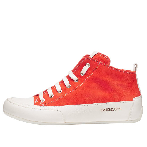 MID Suede and leather ankle sneaker Red 2501923031E13-30
