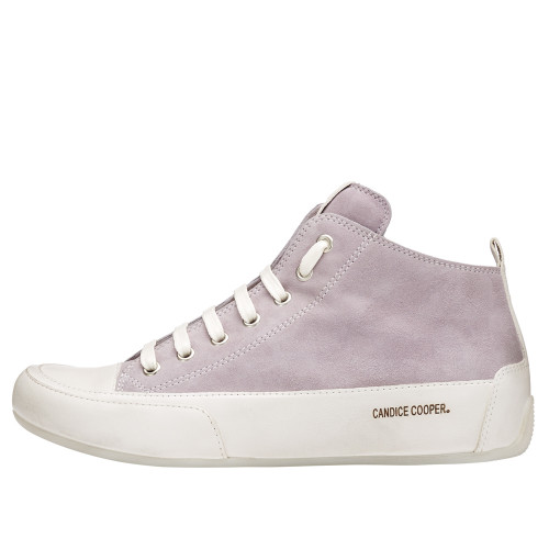 MID Leather and suede hankle sneaker White 2501923031E47-30