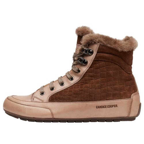 VANCOUVER Suede and nappa leather sneakers Brown 2501937019101-30