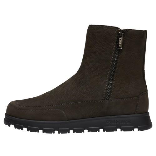 NINJA ZIP Nubuck leather ankle boots Black 2501945079163-30
