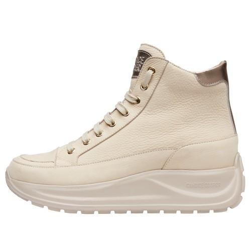SPARK PLUS Nubuck leather sneakers Cream-coloured 2501947069153-30