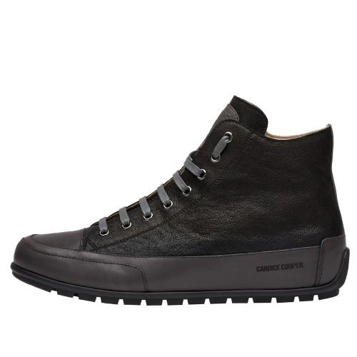 PLUS UOMO Goatskin leather sneakers Black 2501954019101-30