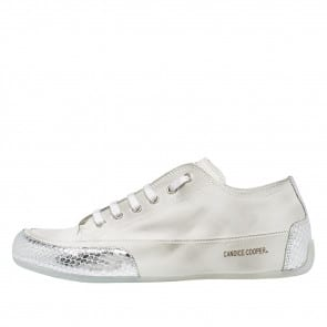ROCK Leather sneaker with silver inserts Silver 2015826551Q23-20