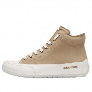 PLUS Nubuck and nappa leather ankle sneakers Cream-coloured 2016059049133-20