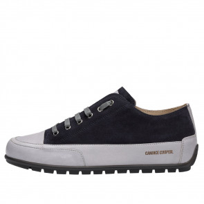 SANBORN Suede leather sneakers Black/Blue 2016095019101-20