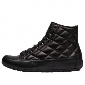 PLUS BORD Quilted nappa leather sneakers Black 2501939039121-20