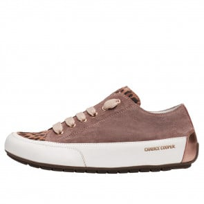 ROCK Suede and calfskin leather sneakers Dusty pink 2016054159241-20