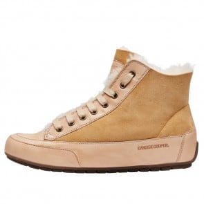 PLUS MONT. Nappa leather and sheepskin ankle sneakers Beige 2016058019101-20