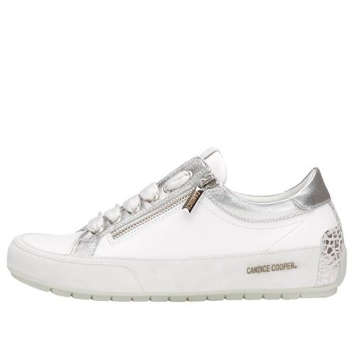 R.DELUXE ZIP Sneaker aus Leder mit Reißverschluss Weiß 2015824081N02-30