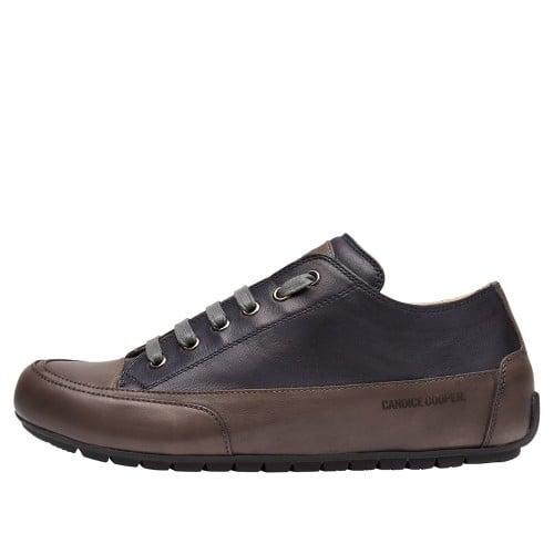 ROCK Sneakers aus Leder und Nappaleder Anthrazit-Navy 2016054029111-30